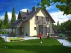 Проект современного дома с подвалом, гаражом и мансардой